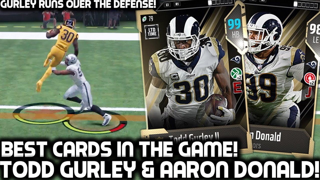 99-ovr-todd-gurley-runs-all-over-the-defense-aaron-donald-madden-18-ultimate-team