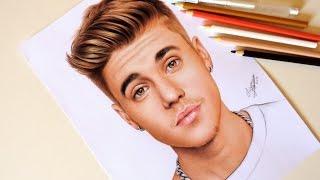 Desenhando o Justin Bieber | Drawing Justin Bieber