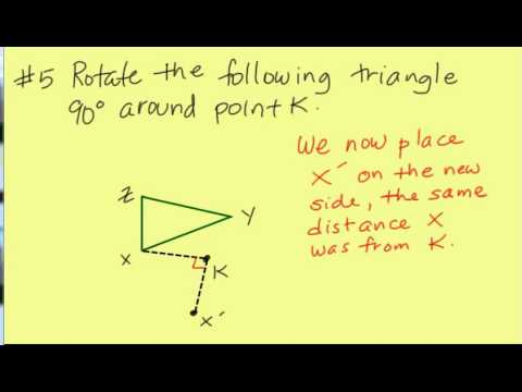 Rotating a triangle 90 degrees