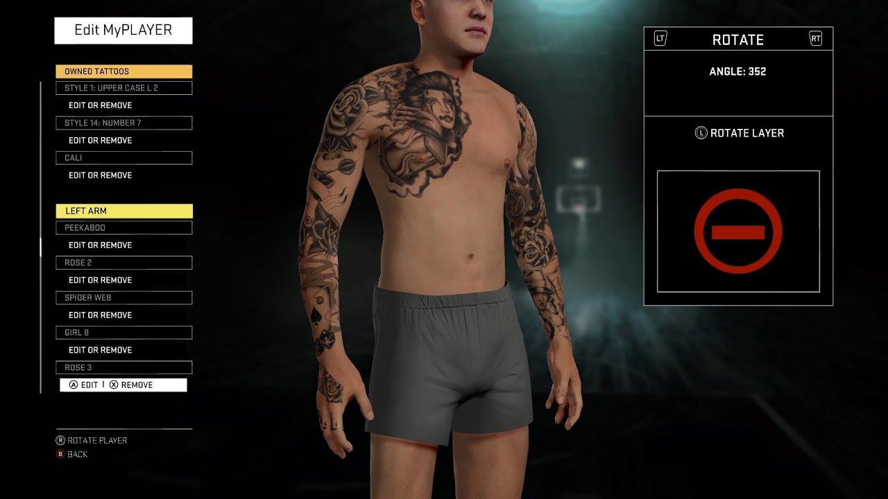 NBA 2K16 My Career Tutorials - My Tattoos Pt. 2 (Update ...