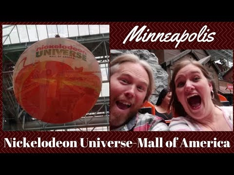 MINNEAPOLIS: Nickelodeon Universe at Mall of America including Fly Over America