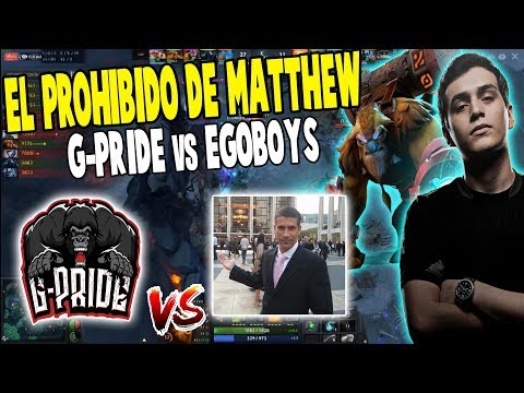 ¡EL PROHIBIDO DE MATTHEW! G-pride vs EgoBoys [Bo1] - EPICENTER MAJOR DOTA 2