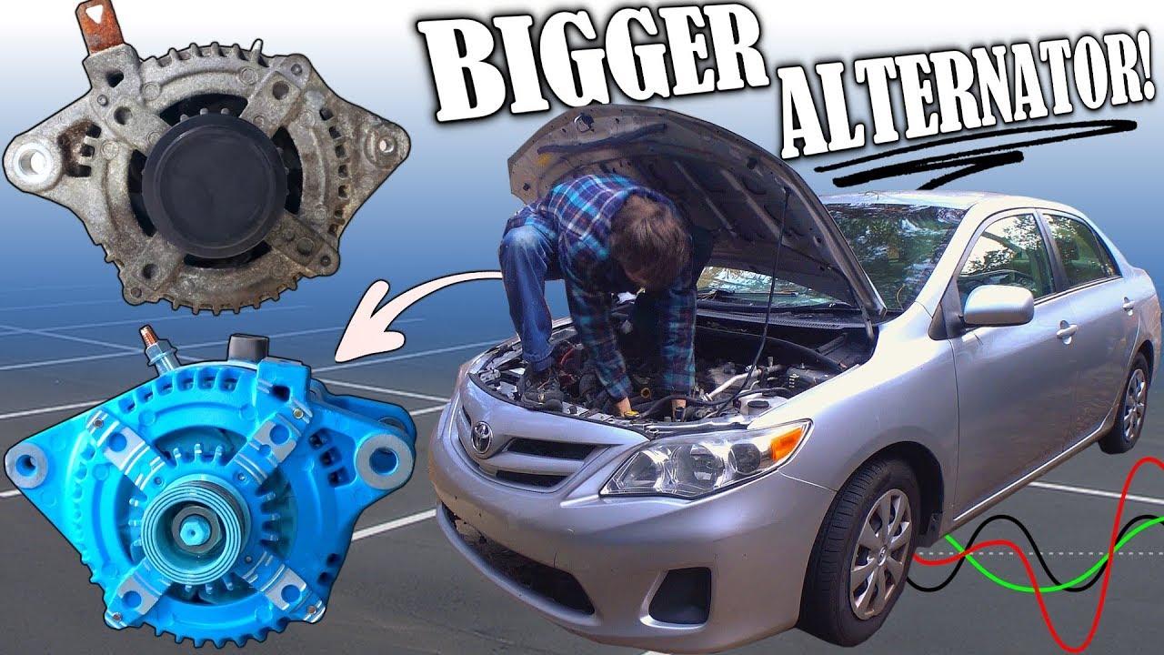 Installing A Bigger Alternator W   High Output Overdrive