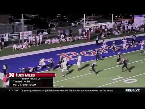 Nebraska Football Recruit  Ben Miles
