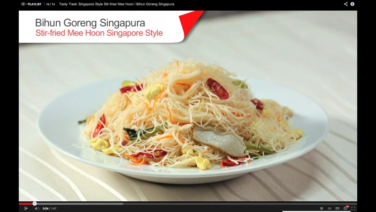 Tasty Treat: Singapore Style Stir-fried Mee Hoon / Bihun Goreng Singapura - YouTube