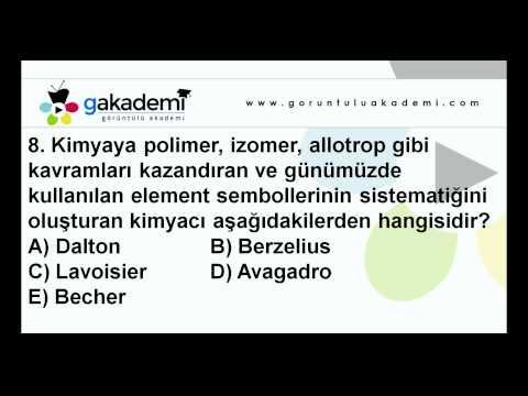 9.Sınıf Kimya Görüntülü Eğitim Seti (Soru Çözümleri)