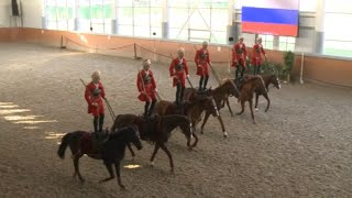 Russian Stunt Horse Tiders Hold Rehearsal for Int