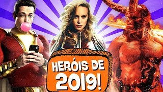 10 FILMES de HERÓIS mais ESPERADOS DE 2019! 🔥🍿