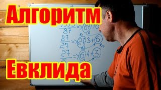 Алгоритм Евклида для нахождения НОД (Наибольшего Общего Делителя) двух чисел. Объяснение и примеры