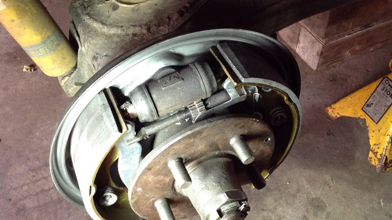 Vanagon passenger side rear brake adjuster - YouTube