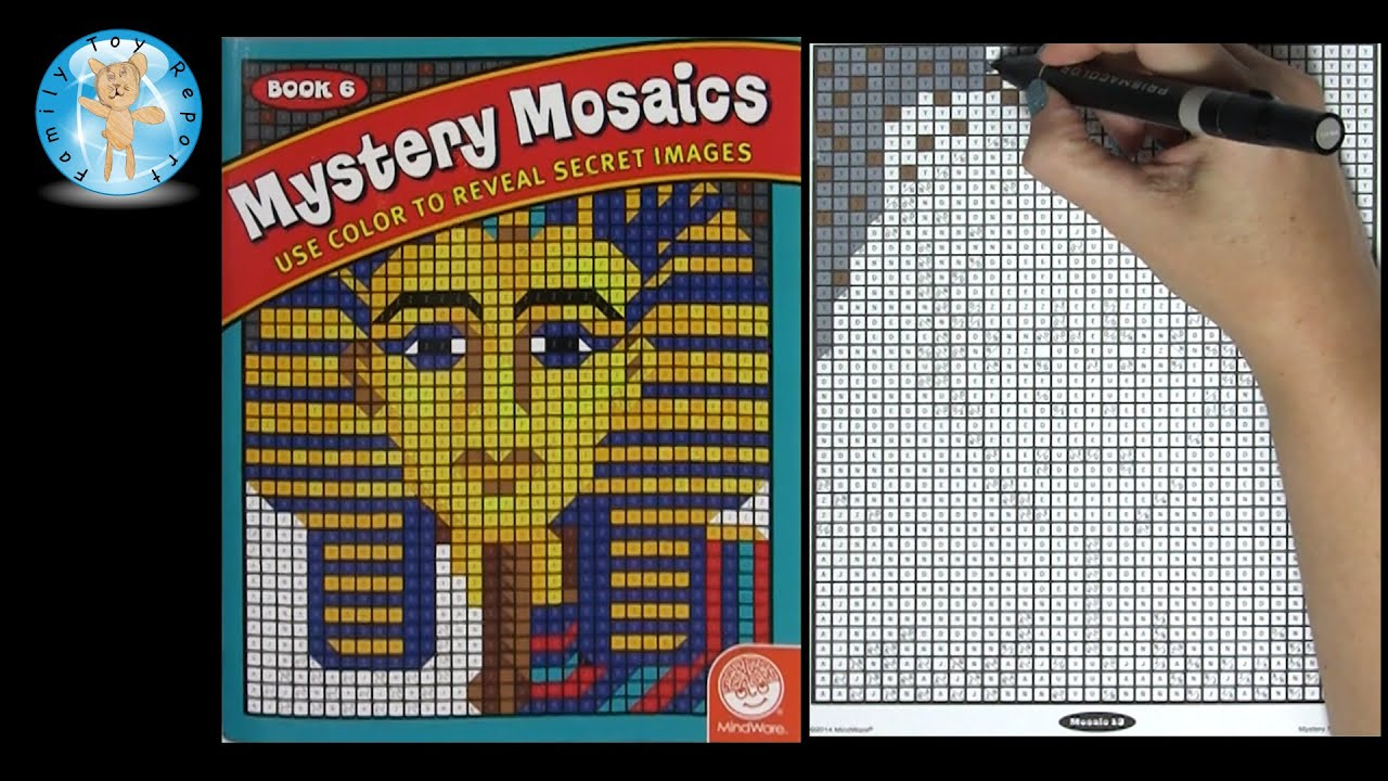 Mindware Mystery Mosaics Coloring Book Number 6 Speed Color ...