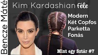 Kim Kardashian haj   Modern Két Copfos Parketta Fonás   Mint egy Sztár #7   Bencze Máté