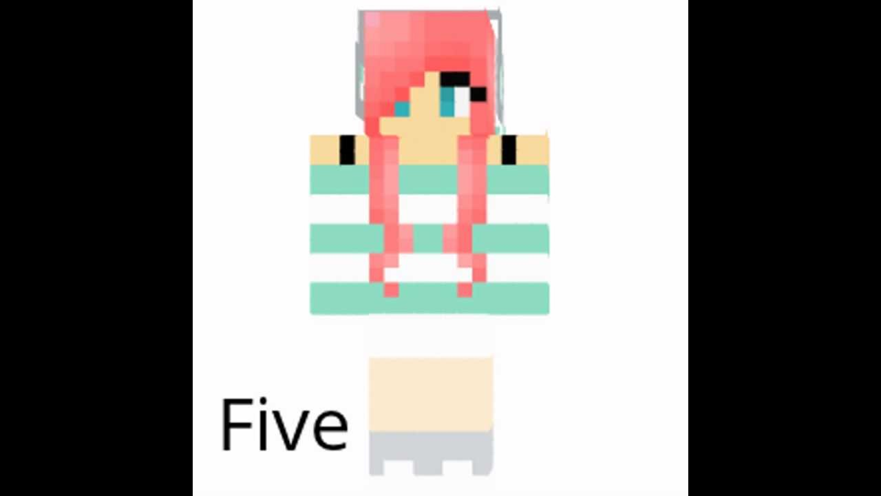 Top 5 Girl Minecraft Skins!!!