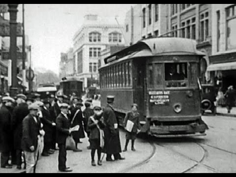 Streetcars in New Bedford and Fairhaven, Massachusetts, in 1921