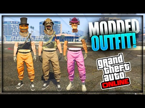 GTA 5 Online - How to Create MODDED OUTFITS using Clothing Glitches *After Patch 1.35* #15