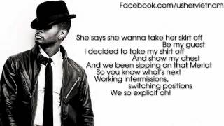 Usher - Lemme See ft. Rick Ross [Lyrics Video]