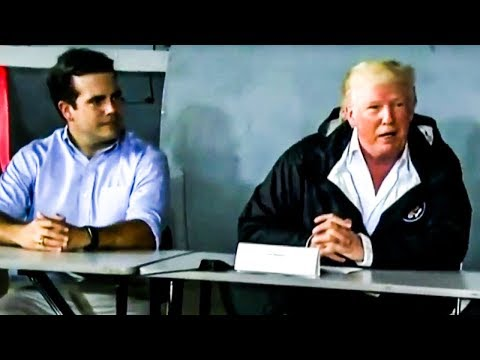 Video Proves Trump's Mental Stability Is Dangerously Unhinged, Botches Puerto Rico Visit