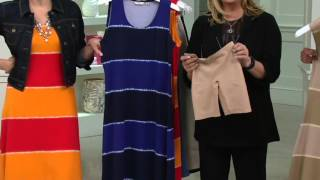 Liz Claiborne New York Tie Dye Striped Maxi Dress on QVC