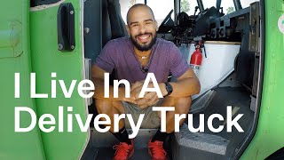Living In A Solar-Powered Delivery Truck | Relocated