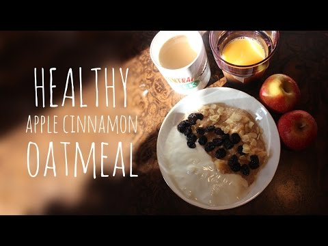 Cinnamon Oatmeal with Dried Apples and Sultanas