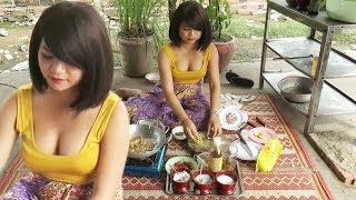Cooking Food in My Village | Khmer Homemade Food Videos | Country Food, Fried Mushrooms​​​ # 12