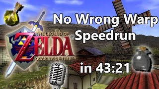 [commentated] Ocarina of Time: No Wrong Warp Speedrun in 43:21