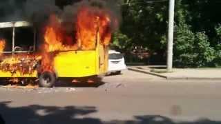 Это не шутки, в Сумах горят маршрутки 08.07