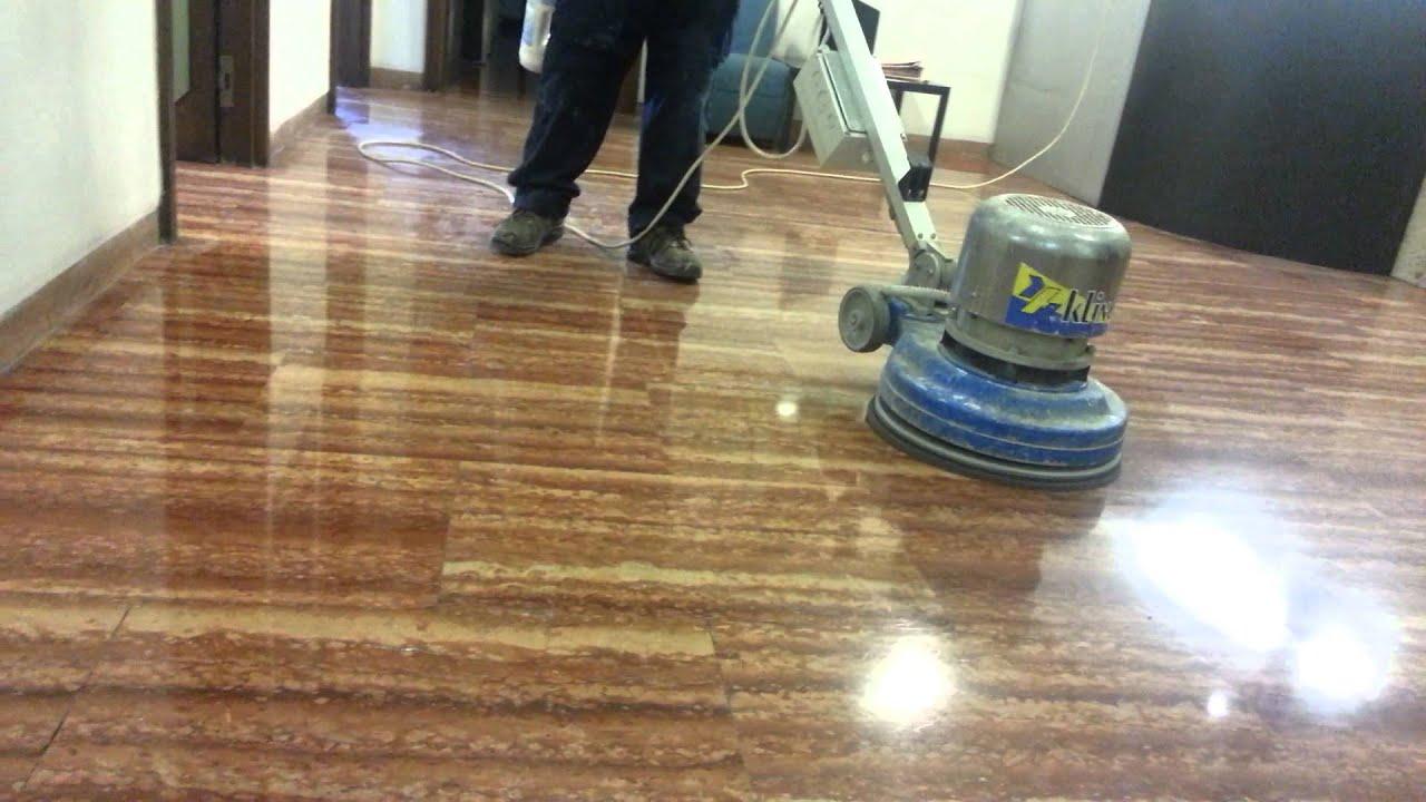 lucidatura pavimento in marmo con metodo della cristallizzazione ...