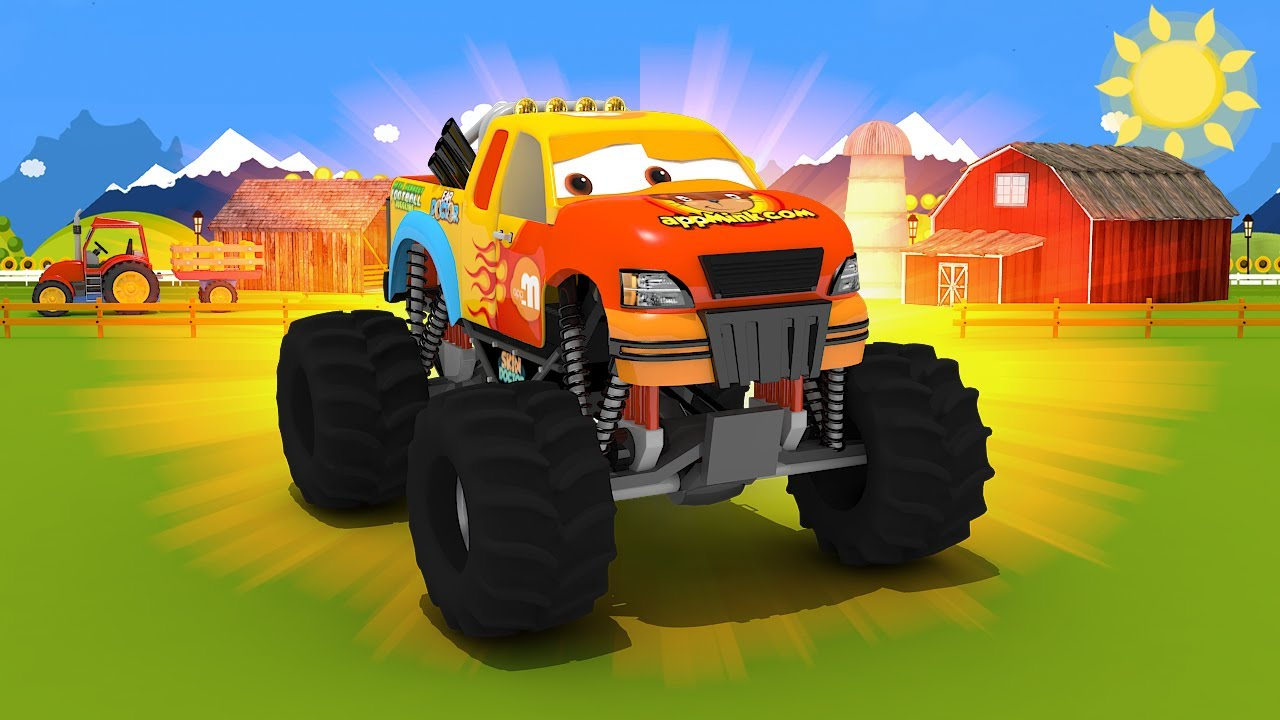 Appmink Build A Monster Truck Educational Video For Children