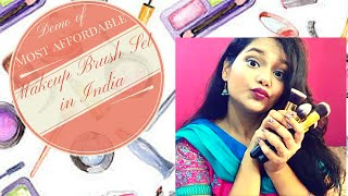 best makeup brush set in inr 1000 for beginners by bs mall demo
