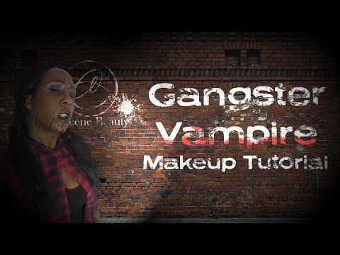 GANGSTER VAMPIRE MAKEUP TUTORIAL  Cleene 🦇🎃🦇🎃