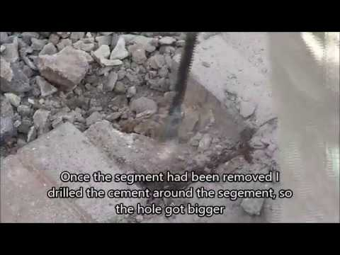 How to easily break concrete with a Kango hammer/ hammer driller and concrete breaker