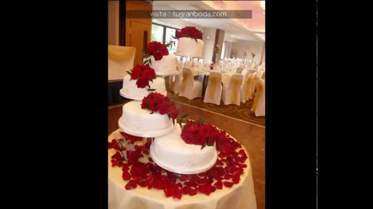 Decoraci n con flores de pasteles para boda youtube for Decoracion con plantas para fiestas
