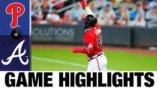 Braves' offense erupts in 11-2 win | Phillies-Braves Game Highlights 8/21/20