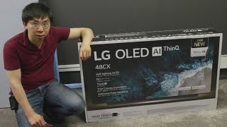 LG 48-inch CX OLED TV Unboxing + Game Mode Picture Settings