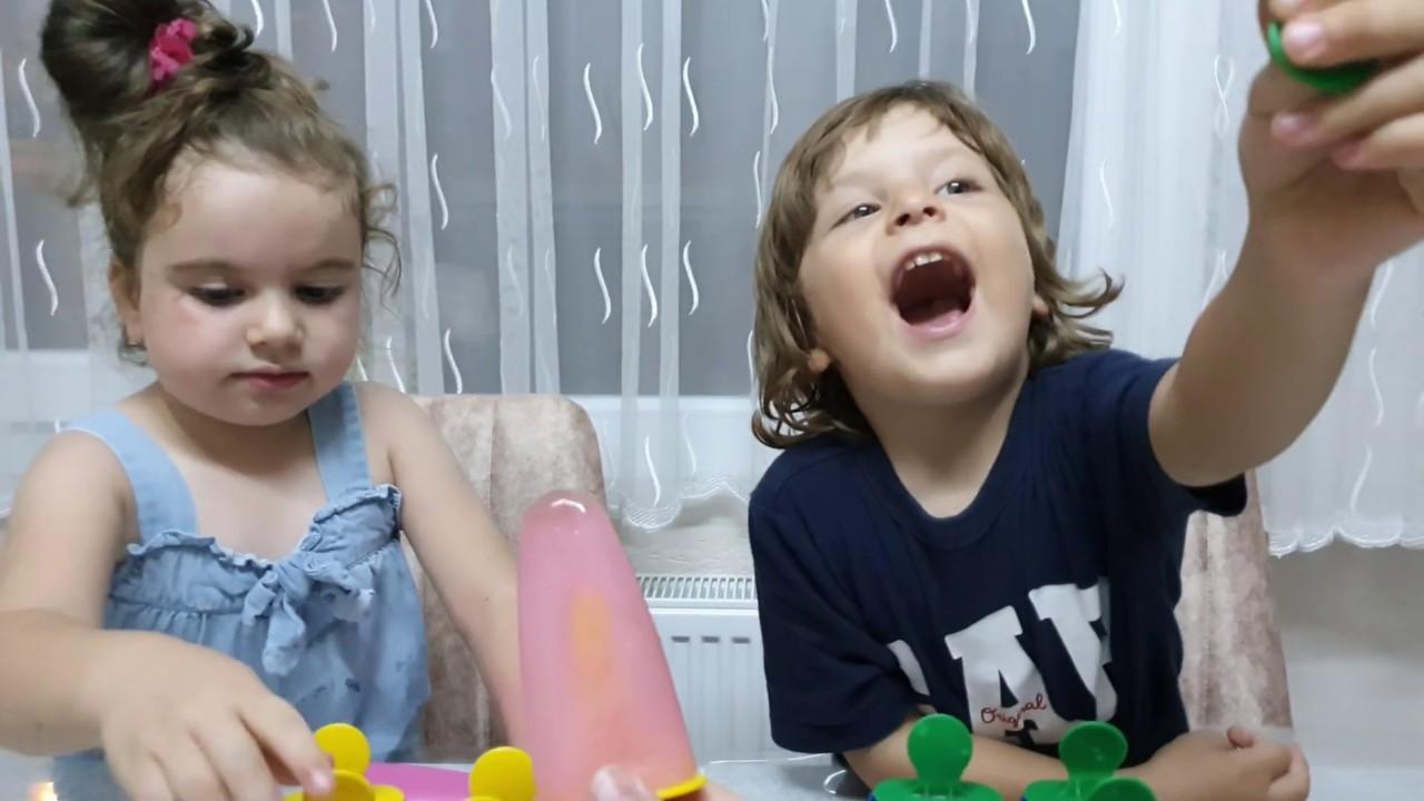 Fatih Selim ve Ela evde dondurma yaptılar