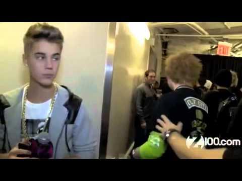 Justin Bieber Meeting Ed Sheeran
