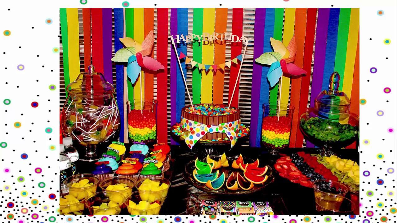 C mo hacer una fiesta de cumplea os tem tica de arcoiris - Decoracion de cumpleanos infantiles ...