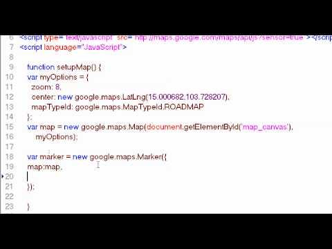 การใช้งาน Marker และ Infowindow ใน Google Map API v3