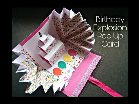 How To Make Explosion Birthday Cards Diy Art And Craft Tutorial