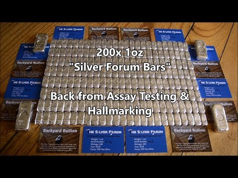 """200x 1oz """"Silver Forum Bars"""" back from Hallmarking & Finished!"""