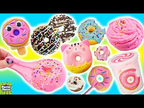 BIG Donut Show! Donut Slime!? Donut Squishies & Cotton Candy! Doctor Squish