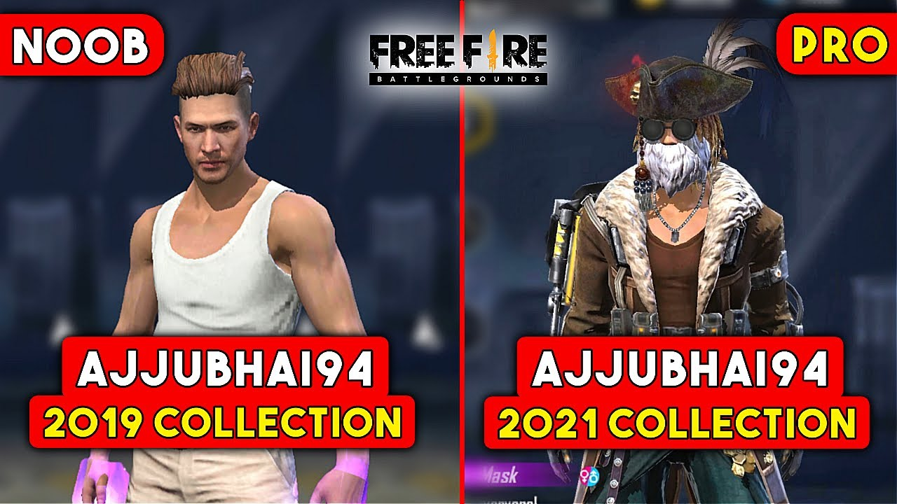 AJJUBHAI MOST RARE ITEMS 100,000$ COLLECTION | GARENA FREE FIRE | TOTAL GAMING
