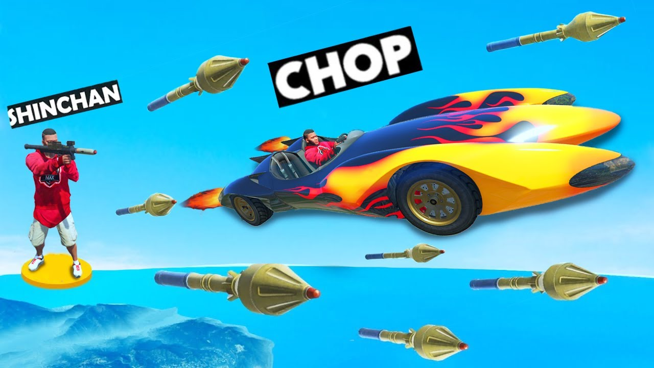 CHOP CHEATED IN GTA 5 MEGA RAMP RACE TO WIN FROM FRANKLIN AND SHINCHAN | THUGBOI MAX