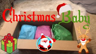 Emotional Christmas Theme Reborn Baby Box Opening. Christmas Baby. Realborn Landon