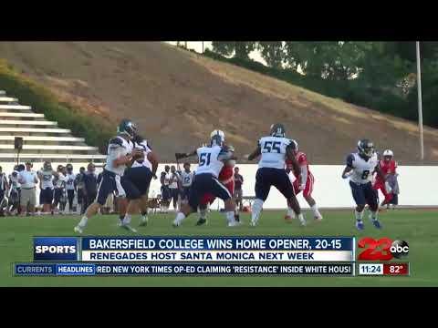 Bakersfield College wins home opener, 20-15