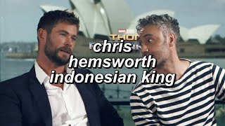 Chris Hemsworth Speaking in Bahasa Indonesia for 1 Minute and 30 Seconds Straight