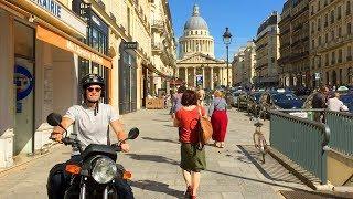 PARIS WALK | Pantheon on Montagne Sainte-Geneviève from Rue Soufflot | France