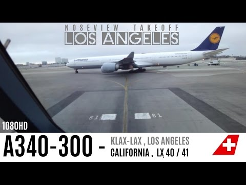 CLASSIC COCKPIT (HEAVY) TAKEOFF IN LOS ANGELES : LONG VERSION