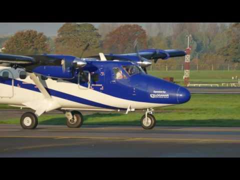G-HIAL Loganair Twotter - Glasgow Airport 22nd OCT 2016 [4K/UHD]